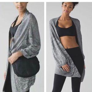 Lululemon breeze easy grey knit wrap
